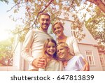 family  happiness  generation ... | Shutterstock . vector #647813839