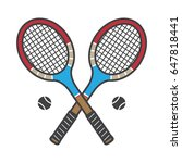 tennis racket vintage sports... | Shutterstock .eps vector #647818441