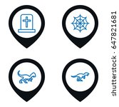 scary icon. set of 4 scary...   Shutterstock .eps vector #647821681
