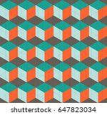 abstract geometric hipster... | Shutterstock .eps vector #647823034
