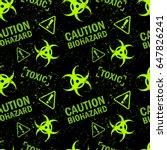 biohazard dangerous area... | Shutterstock .eps vector #647826241
