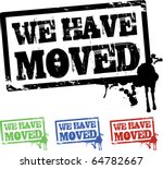 we have moved splashes | Shutterstock .eps vector #64782667