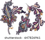paisley elements vector | Shutterstock .eps vector #647826961
