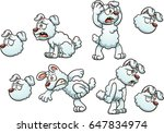 white cartoon dog with... | Shutterstock .eps vector #647834974