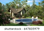 country side cottage house   Shutterstock . vector #647835979