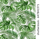 seamless pattern of tropical... | Shutterstock .eps vector #647841571