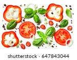 composition of vegetables ...   Shutterstock . vector #647843044