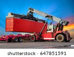 industrial logistics containers ... | Shutterstock . vector #647851591