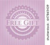 free gift vintage pink emblem