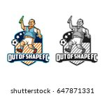 out of shape sport logo | Shutterstock .eps vector #647871331