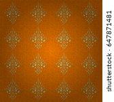 ornate golden pattern for... | Shutterstock .eps vector #647871481