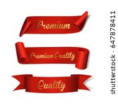 red ribbons. set. premium... | Shutterstock .eps vector #647878411