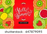 hello summer. tasty season.... | Shutterstock .eps vector #647879095