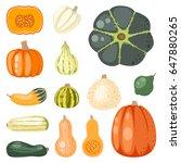 fresh orange pumpkin seasonal...   Shutterstock .eps vector #647880265