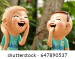 close up  enjoy boy and girl... | Shutterstock . vector #647890537