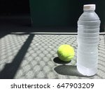 morning exercise with tennis... | Shutterstock . vector #647903209