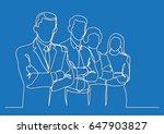 business team   single line... | Shutterstock .eps vector #647903827
