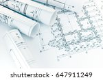rolls of architecture... | Shutterstock . vector #647911249