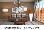 interior living room. 3d... | Shutterstock . vector #647923495