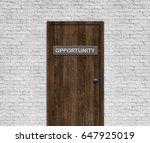 Small photo of OPPORTUNITY DOOR