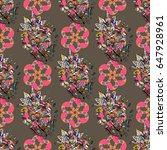 seamless floral pattern with... | Shutterstock .eps vector #647928961