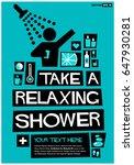 take a relaxing shower poster... | Shutterstock .eps vector #647930281