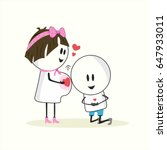 happy family | Shutterstock .eps vector #647933011
