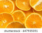orange fruit slice background... | Shutterstock . vector #647935351