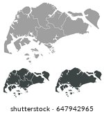 map of singapore | Shutterstock .eps vector #647942965
