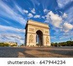 arc de triumph in paris  france ...   Shutterstock . vector #647944234