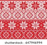 winter sweater fairisle.... | Shutterstock .eps vector #647946994