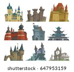 Cartoon Fairy Tale Castle Key...