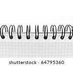 macro of paper notebook | Shutterstock . vector #64795360