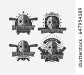 4 hockey sport logo... | Shutterstock .eps vector #647954389