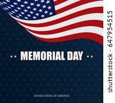 background for memorial day... | Shutterstock .eps vector #647954515