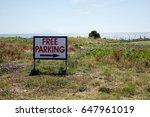 free parking | Shutterstock . vector #647961019