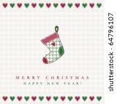 christmas card | Shutterstock .eps vector #64796107