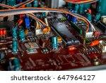 electronic circuit board...   Shutterstock . vector #647964127