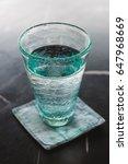 transparent glass of pure water ... | Shutterstock . vector #647968669