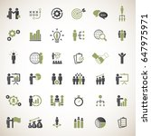 business strategy icons set.... | Shutterstock .eps vector #647975971