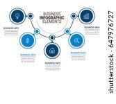 business infographics template   Shutterstock .eps vector #647976727