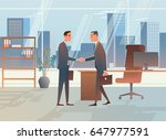 two businessmen made a deal.... | Shutterstock .eps vector #647977591