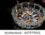 smoking cigar in the round... | Shutterstock . vector #647979541