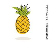 pineapple vector | Shutterstock .eps vector #647982661