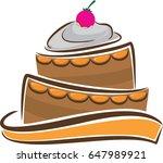 cake logo template   Shutterstock .eps vector #647989921