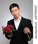 handsome romantic young man... | Shutterstock . vector #64799047