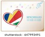 heart logo made from the flag...   Shutterstock .eps vector #647993491