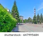 irkutsk cityscape | Shutterstock . vector #647995684