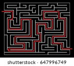 solved maze vector symbol icon... | Shutterstock .eps vector #647996749