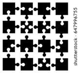 puzzle  silhouette set vector...   Shutterstock .eps vector #647996755